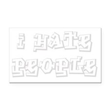 Ihate-people_ltgray Rectangle Car Magnet