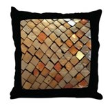 Copper Squares Throw Pillow