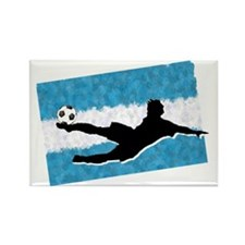 Soccer-Argentina Rectangle Magnet