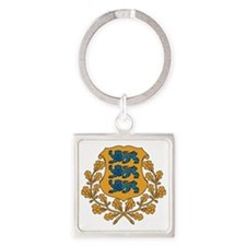 Estonia Square Keychain