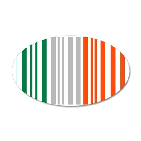 paddys_barcode 35x21 Oval Wall Decal