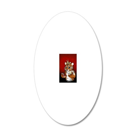 Chueh Tiger Renoly 2010 20x12 Oval Wall Decal