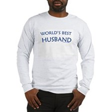 World's Best Husband - Grey Long Sleeve T-Shirt