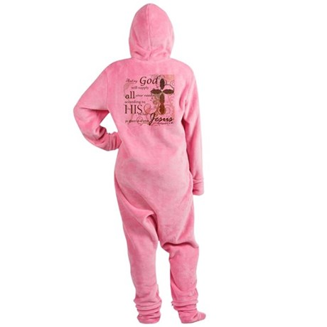 2-Picture Frame Footed Pajamas