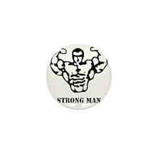 strongman_black_phrase Mini Button