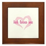 """bob loves me"" Framed Tile"