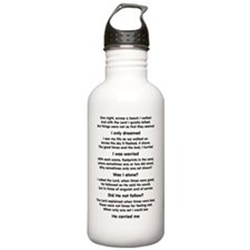 footprints-black Water Bottle