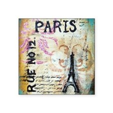 "cafe9x12eiffel Square Sticker 3"" x 3"""