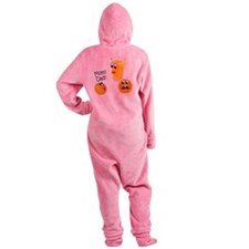 OrangesMomDad Footed Pajamas