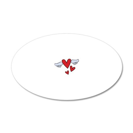 Love In Flight 20x12 Oval Wall Decal