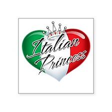 """CP1013-Italian Princess Square Sticker 3"""" x 3"""""""