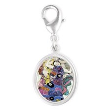 Gustav Klimt - The Virgins Silver Oval Charm