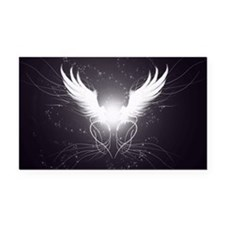 2-wings2.5 Rectangle Car Magnet