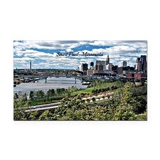 Saint Paul, Minnesota landsca Rectangle Car Magnet