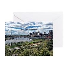 Saint Paul, Minnesota landscape phot Greeting Card