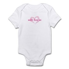 """malik loves me"" Infant Bodysuit"