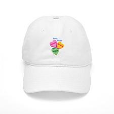 ST Multi Heart Baseball Cap