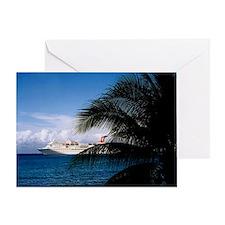 Carnival docked at Grand Cayman9.5x8 Greeting Card