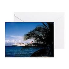 Carnival docked at Grand Cayman14x10 Greeting Card