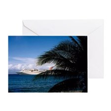 Carnival docked at Grand Cayman23x35 Greeting Card