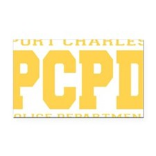 PCPD yellow Rectangle Car Magnet
