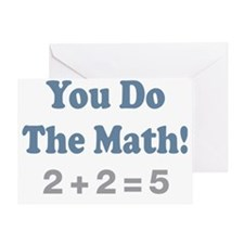 You do the Math 4 Greeting Card