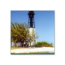 "Hillsboro Inlet Lighthouse Square Sticker 3"" x 3"""