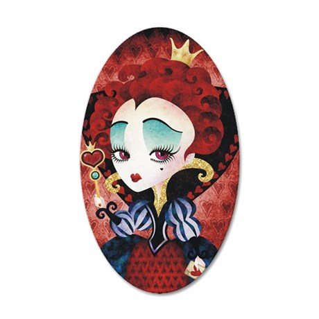 Queen of Hearts 35x21 Oval Wall Decal