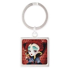 Queen of Hearts Square Keychain