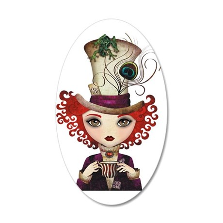 Lady Hatter 35x21 Oval Wall Decal