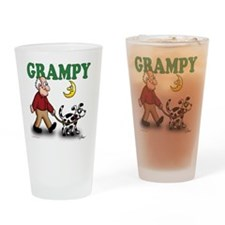 DOG GRAMPS GRAMPY HEADING 2 Drinking Glass