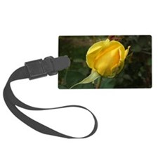 YellowRoseBudOvalTravelMug Luggage Tag