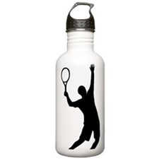 tennis_aufschlag Water Bottle