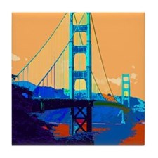 Cute San francisco travel Tile Coaster