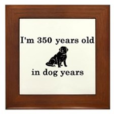 50 birthday dog years lab 2 Framed Tile
