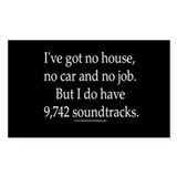 """Lots-o-soundtracks"" Rectangle Decal"