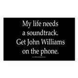 """John Williams"" Rectangle Decal"