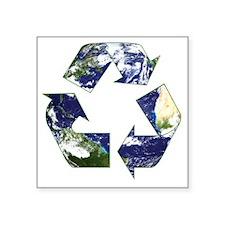 """rec_earth Square Sticker 3"""" x 3"""""""