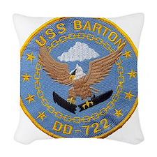 barton patch Woven Throw Pillow