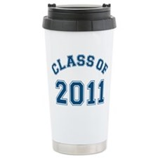 class-of-2011_blue Ceramic Travel Mug