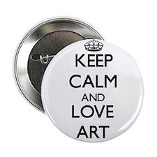 "Keep Calm and Love Art 2.25"" Button"