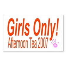 Girls Only! Afternoon Tea Rectangle Decal