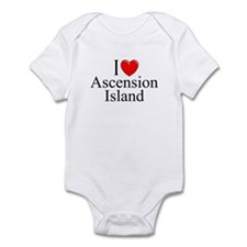 """I Love Ascension Island"" Onesie"
