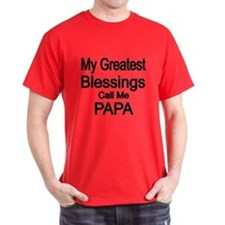 My Greatest Blessings Call Me PAPA T-Shirt