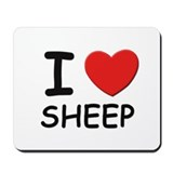 I love sheep Mousepad
