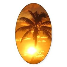 palm sunset 3 Decal