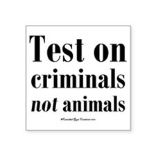 "testcriminals_sq Square Sticker 3"" x 3"""