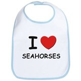 I love seahorses Bib