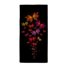 Digital Butterflies Beach Towel