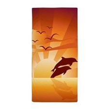 Dolphin Sunset Beach Towel